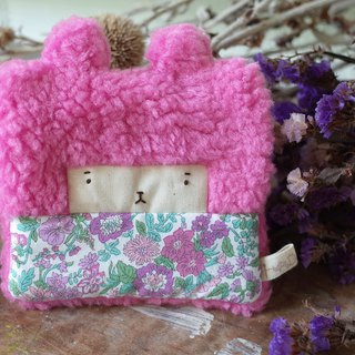 Doll Bunny Purse - Pink Hair - May Flowers / Purple