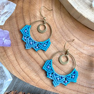 Misssheep - A99 - macrame earrings with  japanese beads, Czech beads