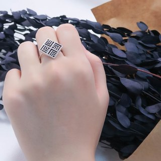Window Flower Jin Jue Ring 925 Silver Ring -ART64