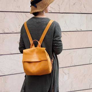Metropolitan Japanese Lightweight Textured Leather Backpack Made in Japan by LESS DESIGN