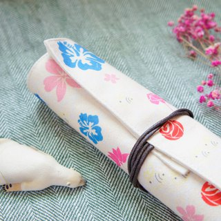 pencil case & tableware bag / great flowering