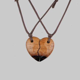 Wooden Love and peace necklace Wood Pendant