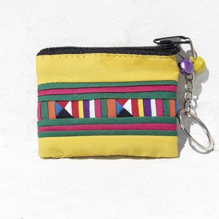 Christmas gift ideas gift exchange gifts limited a sense of design handmade cotton strap / keychain / purse / small bag - mini yellow sun rainbow color design fluffy