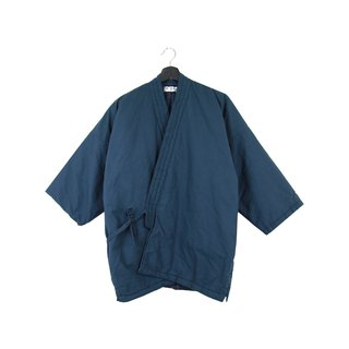 Back to Green :: Japanese home cotton jacket shop cotton lining Workwear plain midnight blue // unisex wear / / (BT-06)