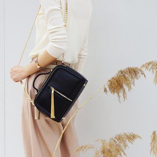 [Hong Kong, Macao and Taiwan] MBS fringed small square bag leather ladies bag shoulder bag chain small square bag