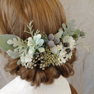 Frosted Botanical Head Dress