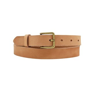 FULLGRAIN │ Italian vegetable tannery leather belt 2.5cm - fine brass stickers