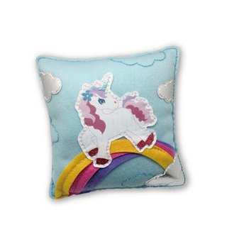 Fairy Land [Material Pack] Unicorn Pillow - Light Blue