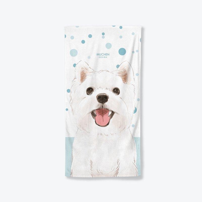 【微笑西高地】浴巾小毯