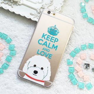 Love Poodle Teacup Poodle Dog Puppy Clear TPU Phone Case iphone x 8 8+ S9 S9plus
