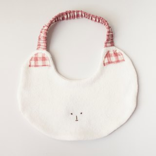 My little star sweetheart kitten hand made organic cotton bib pocket / saliva towel