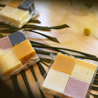 Full-day repair travel soap combination - 4 mini travel soaps, exchange small gifts, hospitality soap