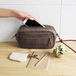 Crossbody Bags Little Tan Width Bags Botanical Dyed Cotton Brown Color