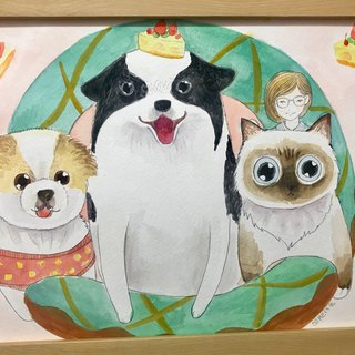 Pet family portrait