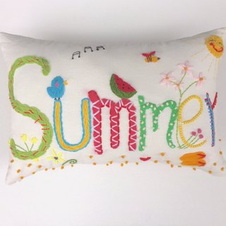 name pillow creative gift - an original design custom handmade wool embroidered pillow -6 letter