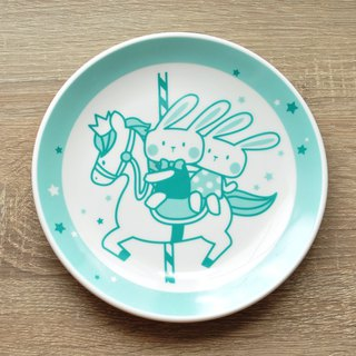 [SUMAIRU] carousel smile disc / cake plate __Tiffany lake green | buy one get one free