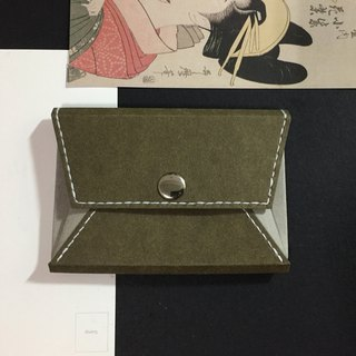 Business card holder, coin purse - washable kraft paper, leather paper