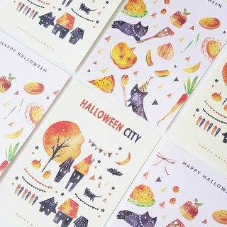 Halloween limited merchandise postcard 2 into 1 group
