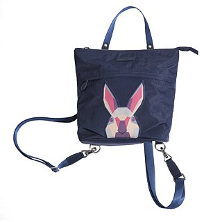 Khieng Atelier after Diamond Diamond Rabbit Rabbit sketch backpack - Fashion Blue