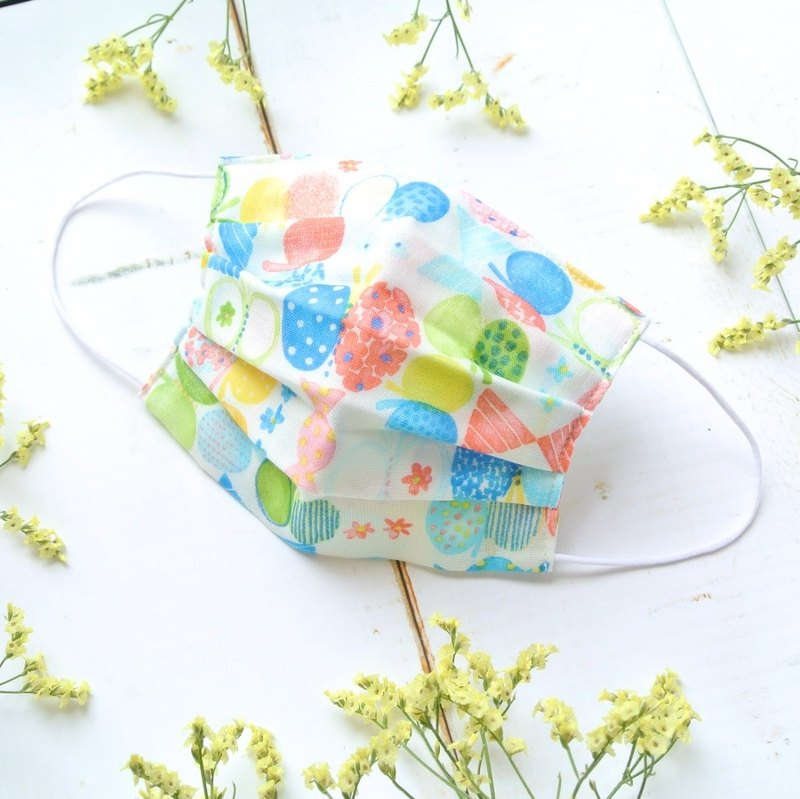 TEMARIYA | handmade mask Butterfly Blue | Comfortable Cute Made in japan