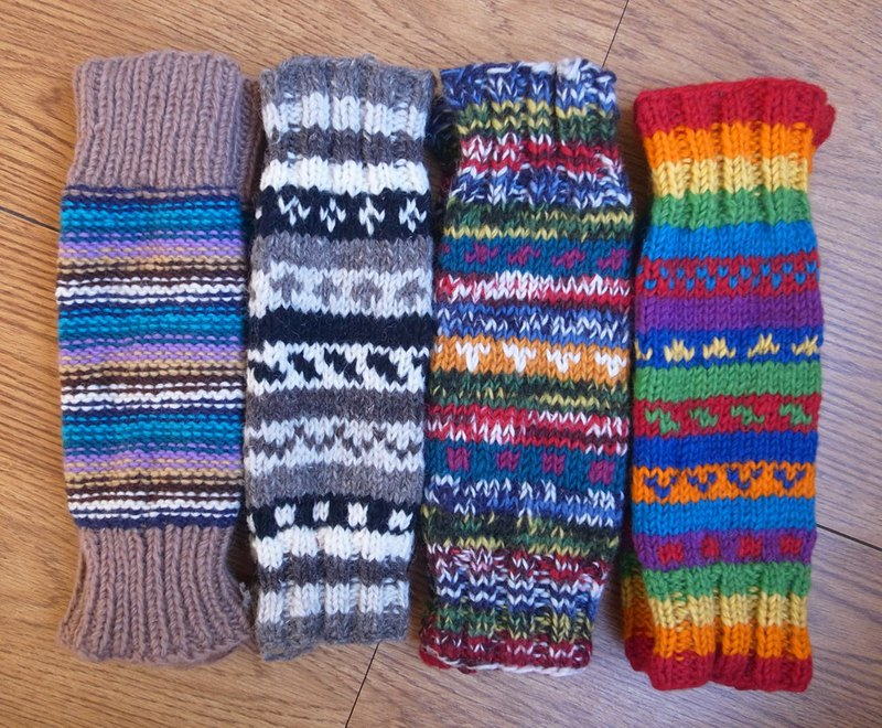 Wool Canadian Colorful Legwarmers Line