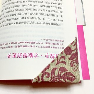 Handmade safflower cotton bookmarks book cloth corner