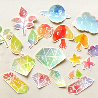 Rainbow Stickers - 20 Pieces - Waterproof Stickers - Laptop Decals