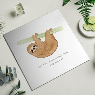 Happy sloth - aluminum decorative panel Decor Board AL6061