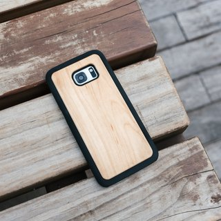 Original Nature Maple Wood Phone case (Samsung S7,S7 Edge) with hard shell back case