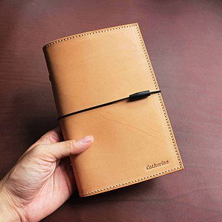 VULCAN A6 loose-leaf notebook simple restraint with Italian thin wax plant yak leather can be embossed