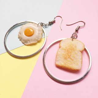 Bread egg  earring new