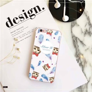 Original Pet Mobile Shell x Customized (White Feather Style) iPhone, Android