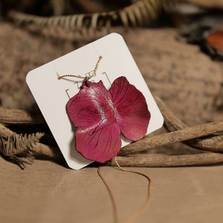 迢迢tiaotiao leather flower necklace - handmade leather / limited edition