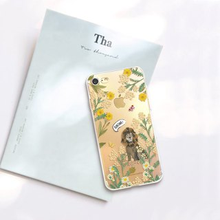Animal clear phone case Floral iPhone x Case Samsung note8 case Galaxy s8 case
