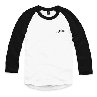 Time travel lying - white / black - seven points sleeve baseball T-shirt