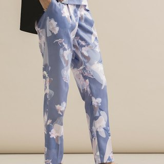 Orchid printed trousers