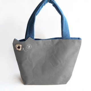☆ casual clothing ☆ canvas cat tote bag gray (order made)