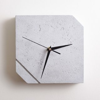 Cement beveled square wall clock