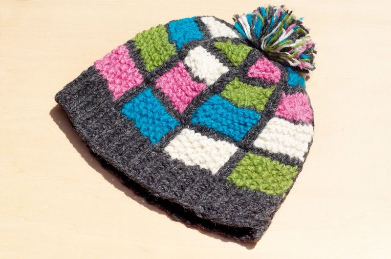 4a1915fdb0c Limited Christmas gift hand-woven pure wool hat   knitted caps   bristles  hand-