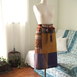 Bistro Apron Indonesian Sarong Fabric