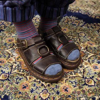 Tsubasa.Y Ancient House A03 Dark Brown Ring Martin Sandals, Dr.Martens