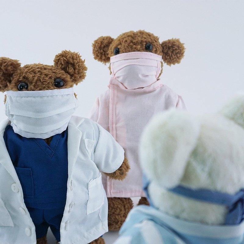 小熊醫護毛絨公仔一套 玩偶玩具 純手工製作 - biooo
