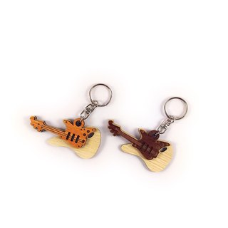 Woodcarving Keyring - Electric Guitar
