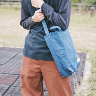 Cloth dual-use bag (dark blue) / 815a.m