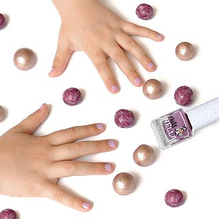 British [Miss Nella] children's water-based tear-proof safety nail polish - bubble gum purple (MN02)