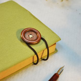 Hand-made book clothing notebook [obsessed] green tea canvas section (Big Ben = A5)