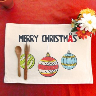 Christmas ball│ Make your table canvas placemat