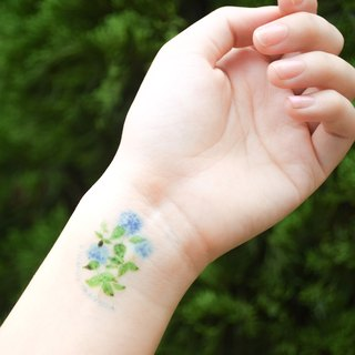 Hydrangea temporary tattoo buy 3 get 1 Floral tattoo party wedding decoration