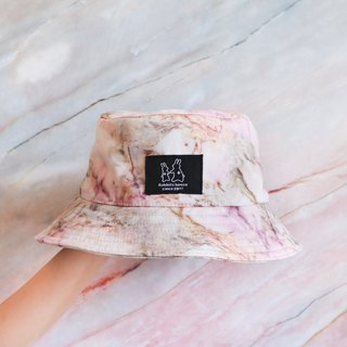 Pink marbled fisherman hat