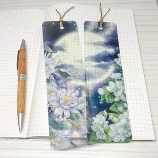 【Flavour of Moonlight】 Jasmine Flower Transparent Card Bookmark Set